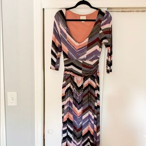 Anthropologie Maeve maxi chevron dress